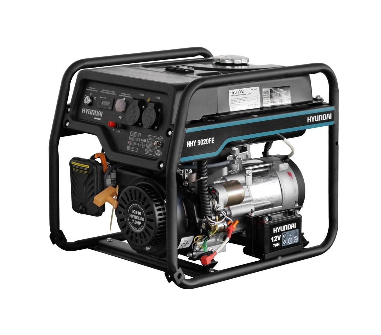 Бензиновый генератор (Бензогенератор) HYUNDAI HHY 5020FE